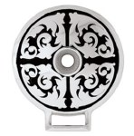 Floral Artwork Screw Down Concho 1.75""