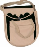 Multi-Pocket Rope Bag Black/Tan
