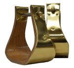 "4"" Brass Wrapped Wood Bell Stirrups"