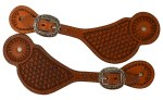 Raber Large Basket Stamp Spur Straps with Jeremiah Watt Buckles