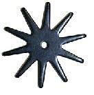 """Black Satin Rowels  2 3/16""""  - 10 pt Spike"""