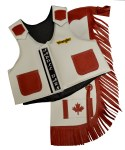 Saddle Barn Canadian Flag Kids Rodeo Vest & Chap Combo