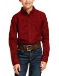 Boys Cranberry Dalanzo Print Shirt