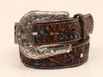 Girls Brown Pierced Belt