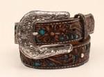 Girls Brown Pierced Belt