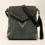 Ladies Blue Serape Messanger Bag