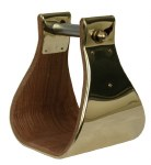 Brass Bound Stirrups - 4 ""