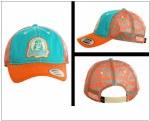 Mens Dale Brisby Orange and Teal Aztec Print Cap