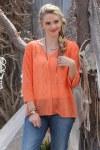 Ladies Orange Chiffon Top