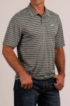 Mens ArenaFlex Striped Polo Shirt