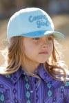 """Girls Blue Glitter """"Country Girl"""" Cap"""