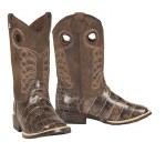 Boys Faux Croc Travis Cowboy Boots