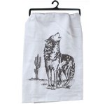 Southwest Craze Coyote Flour Sack Towel