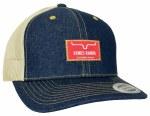Denim Front Kimes Ranch Branded Trucker Cap