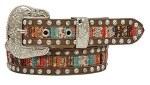Ladies Colored Lace Inset Belt