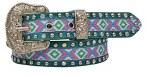 Ladies Inlaid Studded Belt