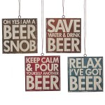 Assorted Beer Coaster Ornaments