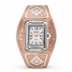 Rose Gold Aztec Cuff Watch
