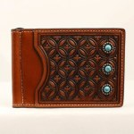 Turquoise Stone BiFold Money Clip Wallet