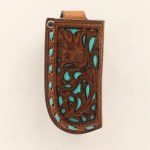 Soft Pierced Leather Pocket Knife Sheath