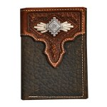 Mens Trifold Two Tone Wallet