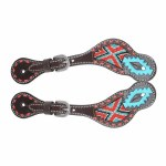 Aztec Beaded Youth/Ladies Spur Straps