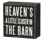 Box Sign - In The Barn