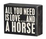 Box Sign - A Horse