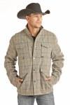 Mens Wool Plaid Coat
