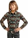Girls Aztec Print Shirt