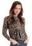 Ladies Cheetah Print Sweater