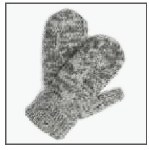 Merino Wool Mitts