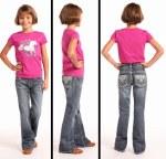 Girls Aztec Medium Wash Jean