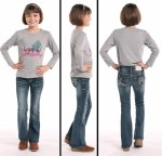 Girls Dark Vintage Wash Boot Cut Jean