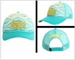 Mens Unstructured Turquoise and Yellow Aztec Print Cap