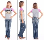 Girls Bootcut Dark Wash Jean