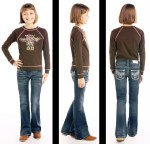 Girls Dark Wash Bootcut Jean