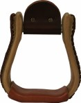 "Rawhide Covered Stirrup - 2.5"" Visalia"