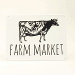 "Metal ""Farm Market"" Sign"