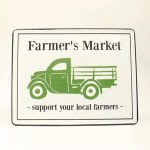 "Metal ""Farmer's Market"" Sign"