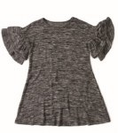 Girls Charcoal Grey Sweater Dress