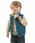 Toddler Blue Puffer Vest