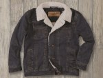 Boys Sherpa Lined Denim Jacket