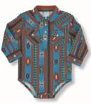 Baby Girl Aztec Print Snap Shirt