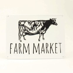"Metal ""Farm Market"" Sign"