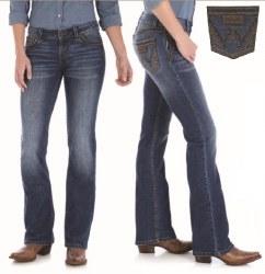 Ladies Retro Saddie Low Rise Jean