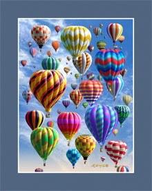Hot Air Balloon 3D Mini Poster