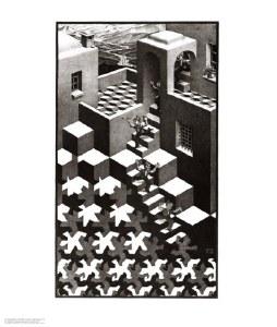 Cycle Escher Poster