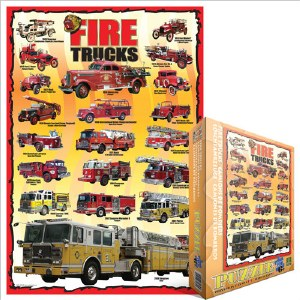 Fire Trucks 100-pc