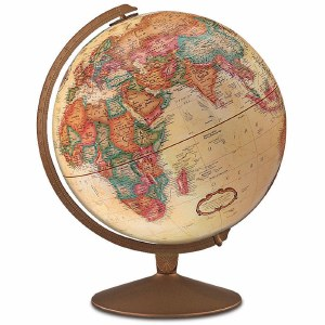 Franklin Antique Globe 12""